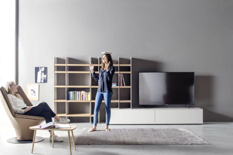 SUDBROCK Wohnmöbel Wohnwand Regalwand Medienmöbel TV-Wand Game Scala Lowboard