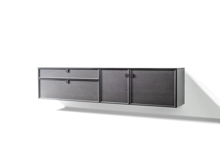 SUDBROCK Sideboard ARTAYO Hängesideboard Rahmen Rahmenfront Griff Holz Lack