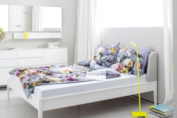 Sudbrock Schlafzimmer weiß Bett Artayo Doppelbett EInzelbett Kopfteil gepolstert schlafen