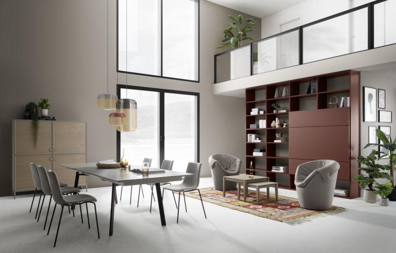 Milieu Sudbrock Speisezimmer Esszimmer Essgruppe Highboard Esstisch Beistelltisch Satztisch Regalwand Bücherwand Regal Schiebetür