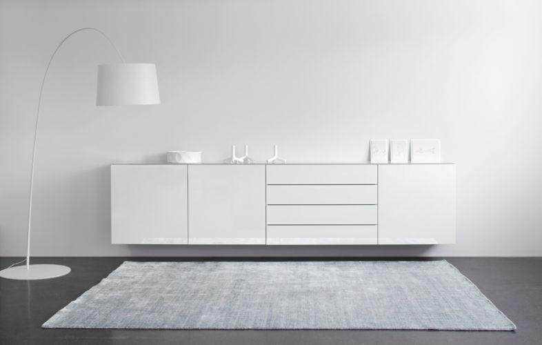 Sudbrock CUBO Kommode Beimöbel Schlafzimmer schlafen Solitäre Einzelmöbel weiß hochglanz schubkasten
