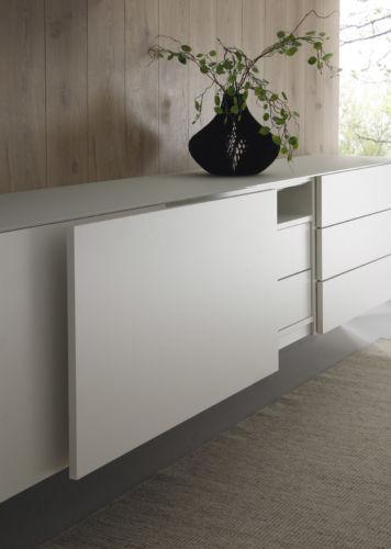 Speisezimmer Esszimmer Sudbrock Sideboard Regal weiß Vitrine Esstisch ausziehbar Essgruppe Kommode