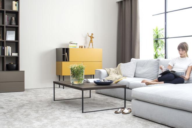 Sudbrock Couchtisch Beistelltisch Wohnzimmertisch Tisch Wohnzimmer Wohnen Eiche Metallgestell