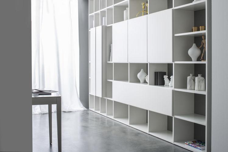 Regalwand weiß Cubo Fokus Sudbrock Regal Bibliothek Bücherregal