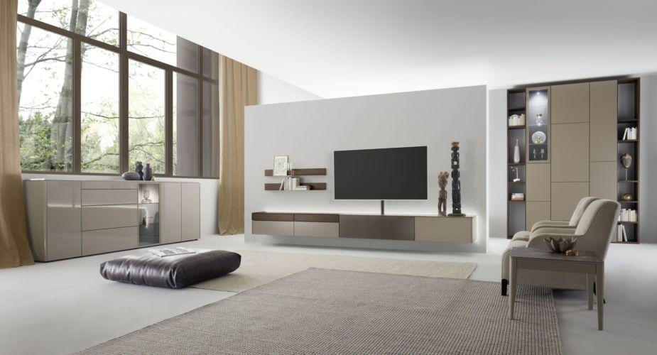 Milieu braun wohnzimmer Sideboard Medienmöbel Wohnwand Regalwand Eiche Fokus Sudbrock GOYA FOKUS Beistelltisch