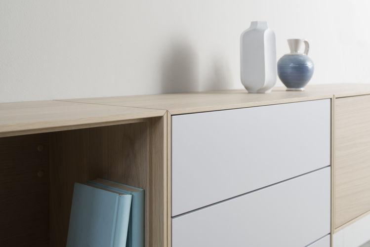 Sideboard GAME Eiche weiß grau Esszimmer Esstisch Sudbrock Esstisch ausziehbar Eiche Holz