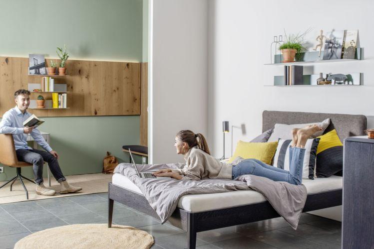 Schlafzimmer Urban Nature GOYA Bett Sudbrock schlafen Doppelbett Einzelbett