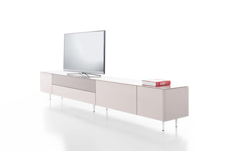 Lowboard Medienmöbel Soundmöbel Sudbrock rosa, TV-Wand Füße Sideboard
