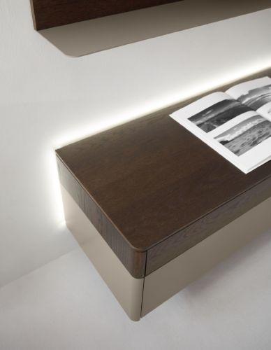 Milieu braun wohnzimmer Lowboard Medienmöbel Wohnwand Regalwand Eiche