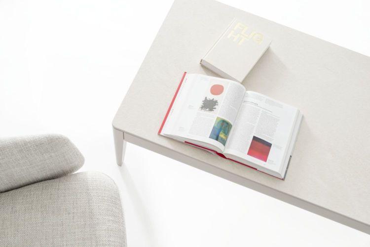 Sudbrock Goya Couchtisch Beistelltisch Tisch Wohnen Wohnzimmer Keramik Tischplatte Kalkstein kaschmir