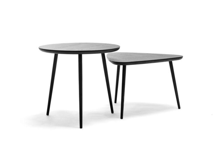 Sudbrock MELLINI Beistelltisch Tisch Couchtisch Eiche braun dreieckig rund