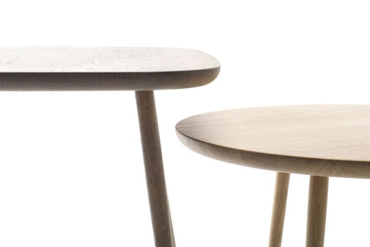 Sudbrock MELLINI Beistelltisch Tisch Couchtisch Eiche braun rund