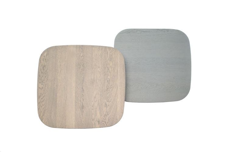 Sudbrock MELLINI Beistelltisch Tisch Couchtisch Eiche massiv quadratisch grau braun