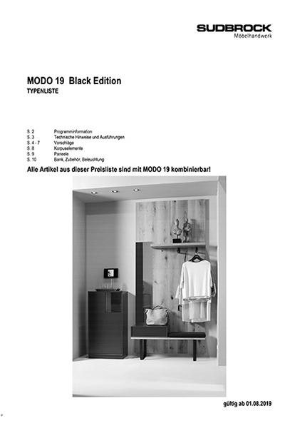 MODO BLACK EDITION Typenliste