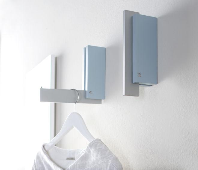 Garderobe Sudbrock MODO Flur Diele wandhängend blau Klapphaken Haken