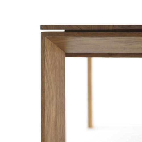 Sudbrock Pondus Esstisch Tisch Esszimmer Essen ausziehbar Tischplatte massiv Massivholz Nussbaum Verlängerung