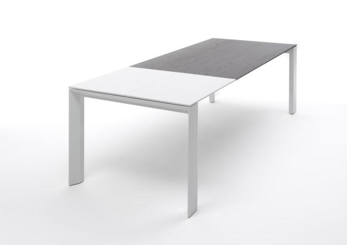 Sudbrock Pondus Esstisch Tisch Esszimmer Essen ausziehbar Tischplatte massiv Massivholz Eiche Verlängerung Lack