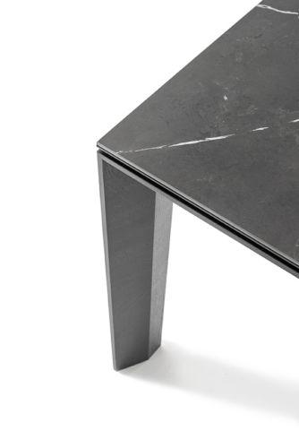 Sudbrock Pondus Esstisch Tisch Esszimmer Essen ausziehbar Tischplatte Keramik massiv Massivholz Eiche