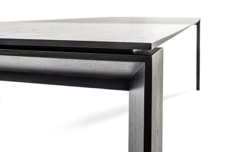 Sudbrock Pondus Esstisch Tisch Esszimmer Essen ausziehbar Tischplatte Keramik massiv Massivholz Eiche Verlängerung