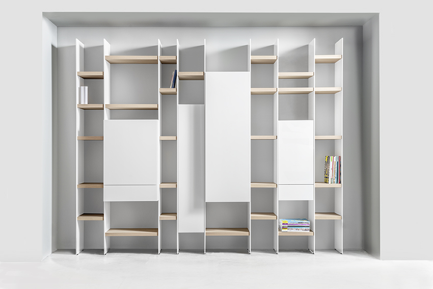 Regalwand SCALA Sudbrock weiß Eiche Korpusse Hängekorpusse Bücherregal Stauraum Home Office