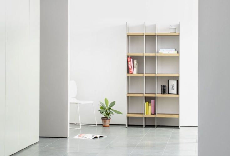 Regalwand SCALA Sudbrock grau Eiche Regal Bücherregal Stauraum