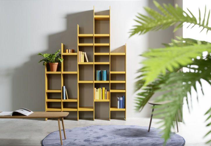 Regalwand SCALA Sudbrock gelb orange Regal Bücherregal Stauraum