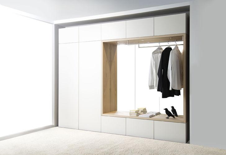 Garderobe Sudbrock TANDO Lack Flur Diele Stauraum Einbau weiß Rahmen Eiche