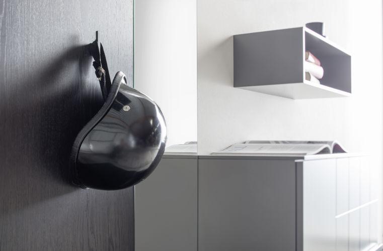Sudbrock Garderobe Kurzprogramm Tao grau Eiche Kommode Hutablage Diele Melamin Bank Spiegel Paneel Regal Sitzkissen Kissen