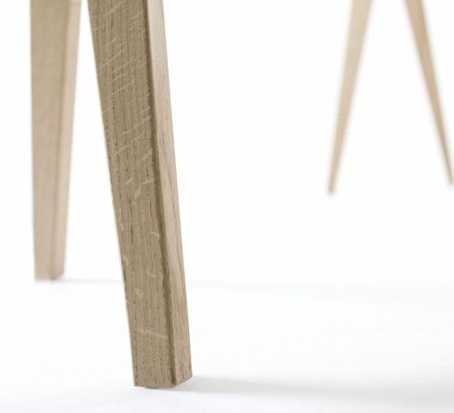 Sudbrock Berliner Bock Design Designelement Schreibtisch freistehend Michael Hilgers Eiche massiv geölt Rehbock Home Office Büro Herrendiener