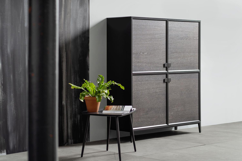 Sideboard Highboard Kommode braun Eiche Sudbrock Mellini Beistelltisch Rahmenfront Schlafzimmer Beimöbel