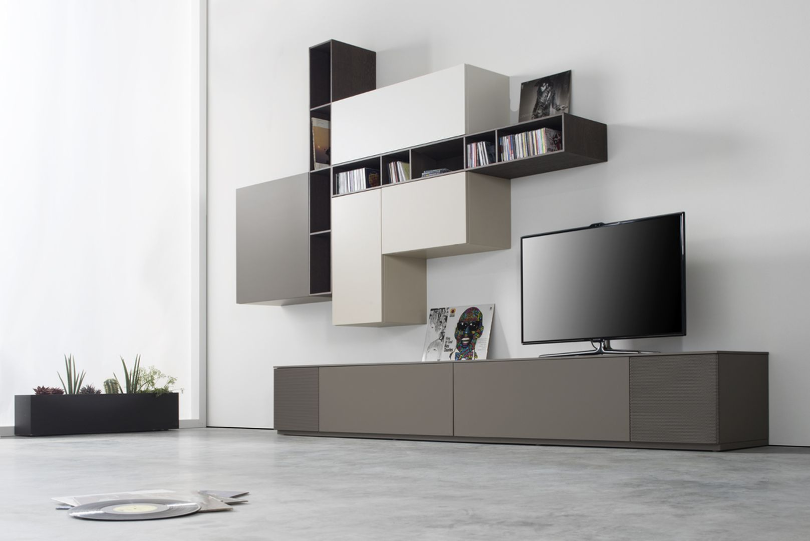 Medienmöbel Soundmöbel TV-Wand Wohnwand TV-Möbel Sudbrock Cubo