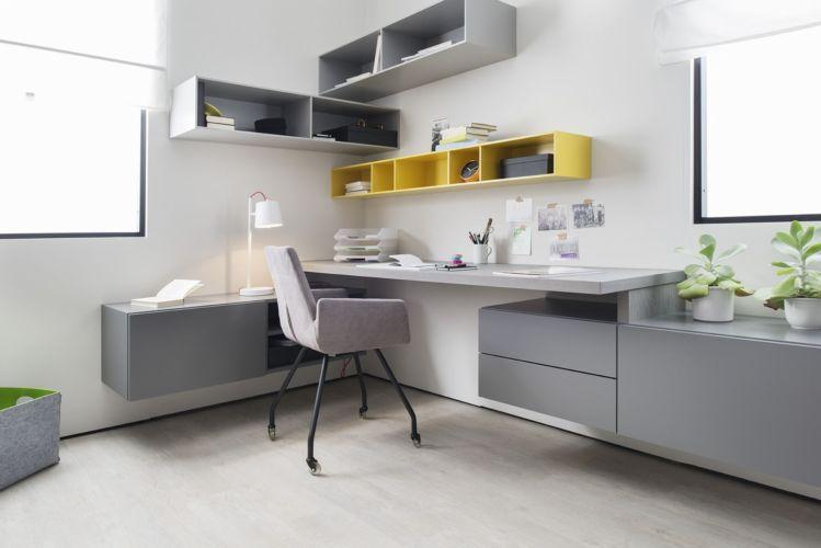 SINUS CUBO Sudbrock +über Eck Ecklösung hängend Lowboard Aufsatzschreibtisch Schreibtisch Regale