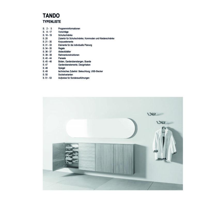 TANDO Typenliste